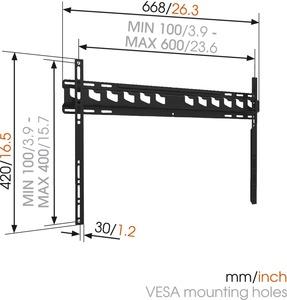 MA4000 fali TV konzol 600X400 Vogel's